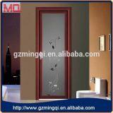 Porta de alumínio do banheiro do projeto interior