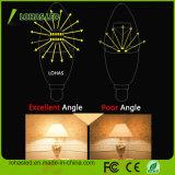 E12 E14 6W Blanco cálido Bombilla de luz de velas LED