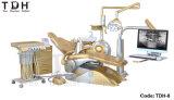 Tuv-Cer-zahnmedizinischer Luxuxstuhl golden (tdh-8)