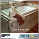 De Beige Marmeren Randen van uitstekende kwaliteit van het Bad voor de Badkamers van het Hotel