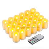 Cera verdadera y velas sin llama verdaderas de la luz del té del LED que oscilan para la boda y los partidos