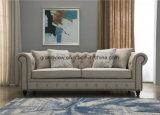 Tessuto di legno classico 2018 di stile americano dell'oggetto d'antiquariato della mobilia del salone 3 Seater