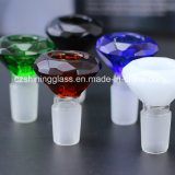 Tazón de fuente de cristal Czs076 de los accesorios del tubo de agua del alto vidrio al por mayor de Qualtiy que fuma