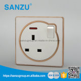 White Circle Design Acrylic High Quality Wall Switch