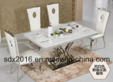 직물 Seater 거실 가구를 가진 의자를 식사하는 현대 스테인리스