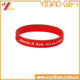 Borracha Wrisband Soft Silicone Soft Orange Color White (YB-HD-61)