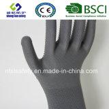 Shell van de polyester de Handschoen van het Werk van de Veiligheid van de Punten van pvc