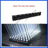 Het LEIDENE Licht RGBW van de Verlichting 8PCS*10W