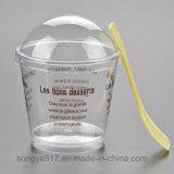 Чашка Mousse PS ясная устранимая пластичная с крышкой