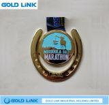 Souvenir courant de médaille de demi de marathon de médaille de propriétaire de chemin de médailles