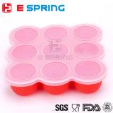 9 Boite de boisson à base de silicone à cavité glacée pour aliments pour bébés