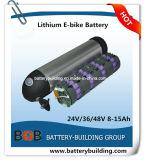 48V 10ahのびんのタイプリチウム電池のEバイク電池のリチウムびんの充電電池