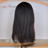 Волосы 100% монгольские людские Remy длинние парики человеческих волос париков цвета 28 дюймов #1b еврейские Kosher