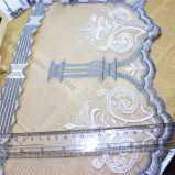 Breiten-Stickerei-Goldgewinde-Nylonnettospitze-Polyester-Stickerei-Zutat-Fantasie-Ineinander greifen-Spitze des Fabrik-auf lager Großverkauf-20cm für Kleid-Zusatzgerät u. Hauptgewebe