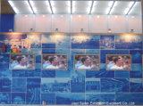 Exposition du système de retenue du panneau de verre
