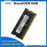 Память RAM изготовления 256MB*8 16c DDR3 4GB фабрики для компьтер-книжки