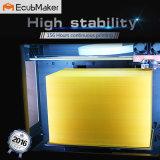 A impressora 3D seleta de Ecubmaker com a placa Heated da configuração, inclui filamento do PLA do cartão do SD e da amostra
