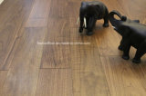 Eingewachsener geölter amerikanische Walnuss ausgeführter hölzerner Bodenbelag