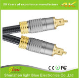De Optische Kabel van uitstekende kwaliteit van Toslink van de Stop van het Metaal