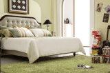 حديثة بيضيّة سرير غرفة أثاث لازم ملك [سز] [لثر] [سفت] [بد]