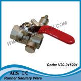 Válvula de bola de latón con grifo de vaciado (V)20-016201