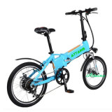 전기 자전거 Fodlable를 접히는 리튬 건전지 무브러시 모터