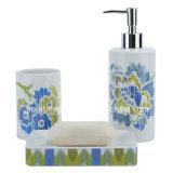 Prodotti stabiliti dell'accessorio di ceramica della stanza da bagno della decalcomania del fiore della banda