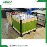 Las frutas y hortalizas estante inclinado y mostrar la tabla de tijera