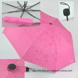 Guarda-chuva 3 de dobramento com a impressão mostrada quando molhado