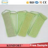 La fibra de carbón de bambú exfoliante Correa de baño cepillo de banda Volver depurador (JM327F)