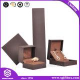 Коробка ювелирных изделий подарка твердого картона белой бумаги упаковывая