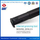 Внутренне поворачивая держатель Mgivr2016-2.5 резца для проточки канавок сопрягал вставки Mgmn250-M