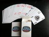 Cartes de jeu de papier d'excursion de bière du monde avec le logo/cartes de tisonnier