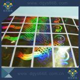 Étiquette de garantie d'or de laser