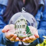 Juguete de madera Guangzhou DIY Casa de muñecas con la bola de cristal