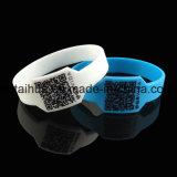 Wristband blu del silicone con lo Swoosh Thb-038