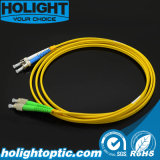 Optische Vezel Patchcord Fca aan St Duplex Singlemode Gele 3.0mm