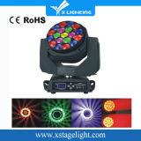 DJのディスコRGBW 19*15W 4in1のズームレンズの蜂の目LEDの移動ヘッド段階ライト