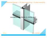 Paroi de rideau semi-visible visible en verre coloré