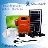 Nécessaire à énergie solaire de C.C de Whc Sk0603W 3W avec 2 éclairages LED