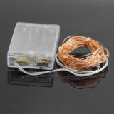 Lumières LED 33FT Long Ultra Thin String Copper Wire Decor Corpe Flexible Light Battery Box Perfect for Weddings