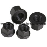 DIN 6923 Acier à Carbon Black Black Hexagon Flange Nut