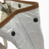 Bolso lavado blanco de las mujeres del cerrojo del papel de Kraft (16A081)