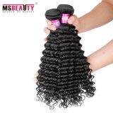 Cabelo natural da onda profunda brasileira de Remy do Virgin do cabelo humano de 100%
