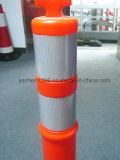 Eenvoudige Opstelling 115cm de Weerspiegelende Plastic Post Van uitstekende kwaliteit