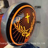 Forme irrégulière en 3D Signature publicitaire LED Light Box