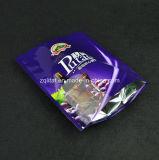 Customzied si leva in piedi in su il sacchetto di plastica dell'alimento con 3 strati materiali per il pacchetto dello spuntino con la chiusura lampo