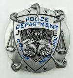 Emblema chapeado da lembrança da polícia da antiguidade da forma prata fresca feita sob encomenda