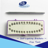 Zahnmedizinisches Produkt orthodontischer materieller Damon Q Art-Selbst, der Halter mit 345 Haken verbindet