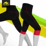 Frauen-feste Sport-Kurzschluss-Hosen, die Hosen komprimieren